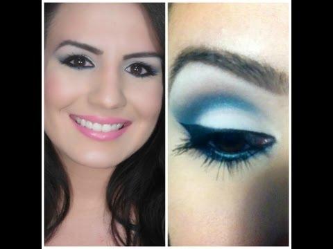 Como maquillarse con vestido azul turquesa