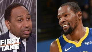 Stephen A: Kevin Durant's performance against Rockets was 'disgraceful' | First Take