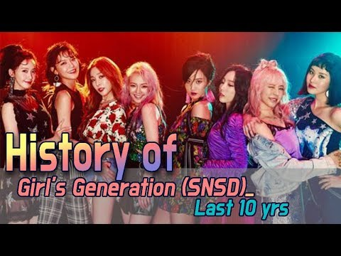 [60FPS] SNSD 10yrs, From Debut to the Holiday Night (How many songs do you know?)