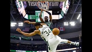 Jaylen Brown Keeps Dunking on Giannis Antetokounmpo | 3 Slams This Year