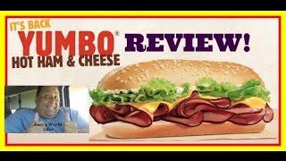 BURGER KING'S® YUMBO Hot Ham & Cheese Sandwich REVIEW!