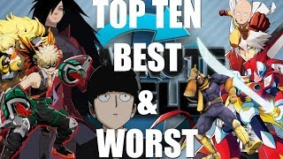 Top Ten Best and Worst One Minute Melee Episodes. (Favourites and Least Favourites)