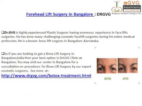 Brow Lift Treatment: DRGVG