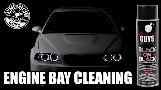 BMW M3 How To  Engine Bay Cleaning - Chemical Guys Black on Black