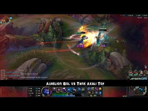 [PBE] Aurelion Sol vs Tank Akali Top Full Game