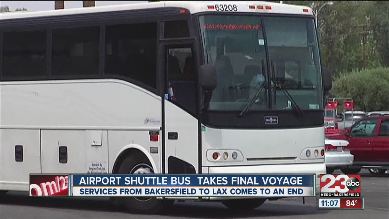Airport Shuttle Bus Takes Last Trip To Lax Youtube