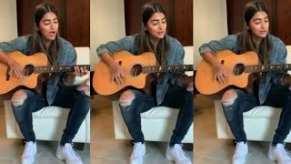 Unseen video: Pooja Hegde plays guitar, sings song for her..