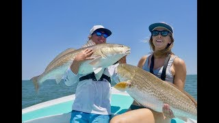 THE BIGGEST REDFISH WE HAVE SEEN! Fishing Outer Banks for Bull Redfish