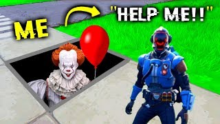I Pretended To Be Pennywise In Fortnite (IT Clown)