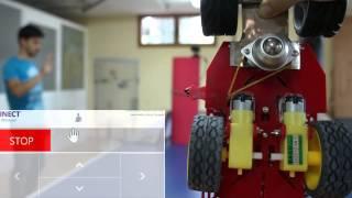 Arduino robot manipulation using Kinect