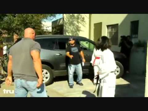 Girl Fights Boy Beats Up Big Guy Karate Kicks Ass Youtube