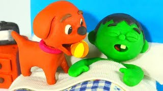 FUNNY KIDS LITTLE DOG WANTS TO PLAY ❤ Play Doh Cartoons For Kids