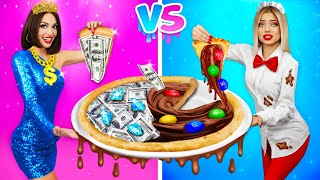 RICH Girl vs POOR Girl CHOCOLATE CHALLENGE || Real vs Chocolate Food, Makeup and Jewelry by RATATA