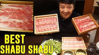 BEST All You Can Eat SHABU SHABU HOTPOT BUFFET in Tokyo! Wagyu and Sukiyaki