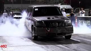 WORLD Fastest Nissan patrol (VTC) in yas drag race by UNDERGROUND suv performance