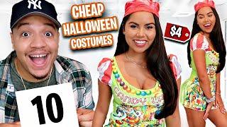 RATING My Girlfriends CHEAP HALLOWEEN COSTUMES!! (DIY Costume Ideas)