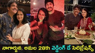 Nagarjuna Akkineni, Amala 28th wedding anniversary celebra..