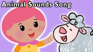 Animal Sounds Song with Bo Peep and More | BABY SONGS | Nursery Rhymes from Mother Goose Club!