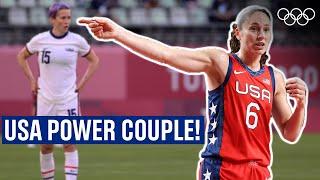 Sue Bird 🏀  and Megan Rapinoe ⚽  are GOALS!