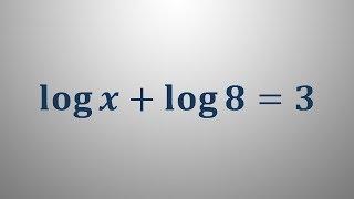 Logaritemska enačba 5