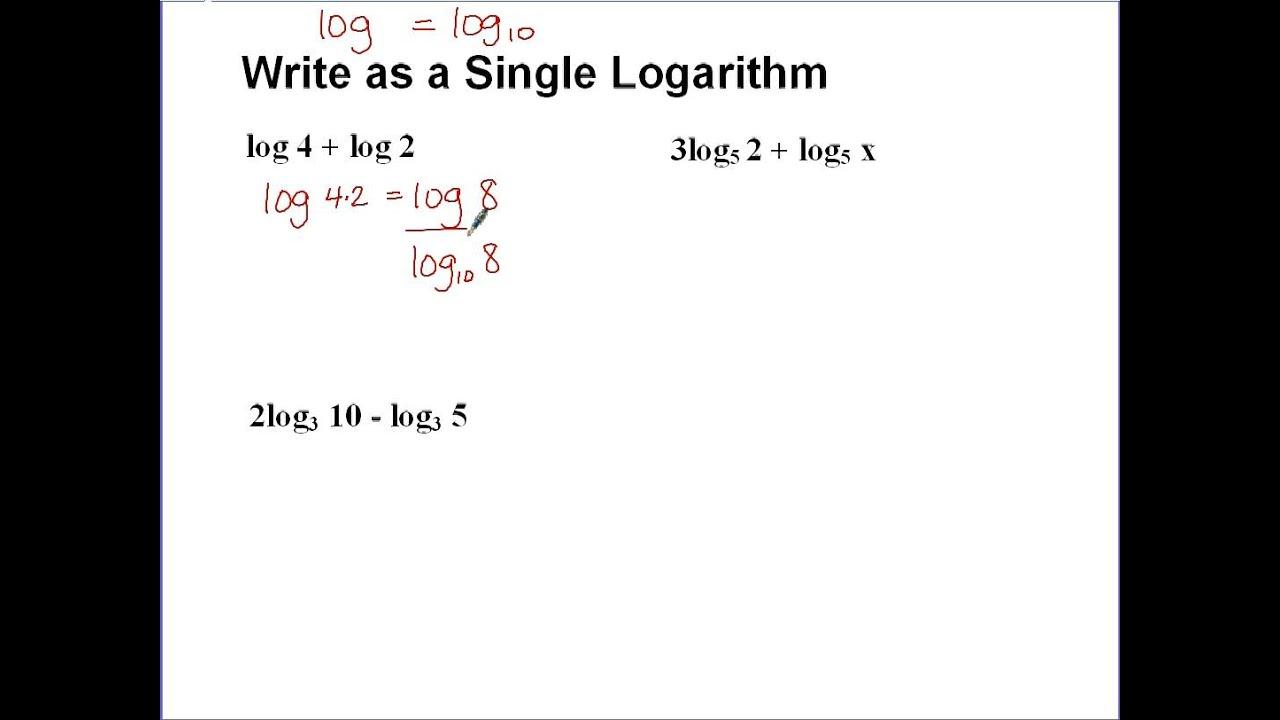 rewriting as a single log