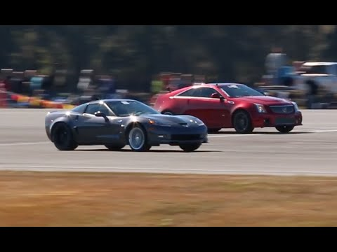 Chevy Corvette vs Cadillac CTS-V REMATCH at WannaGOFAST Ocala Florida 2016 Jumbolair