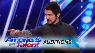 Colin Cloud: Real Life Sherlock Holmes Reads Minds - America's Got Talent 2017