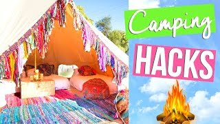BEST CAMPING HACKS & TIPS! | SUMMER VACATION GUIDE 2017 | Page Danielle