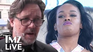 RUSSELL CROWE Gets Physical with AZEALIA BANKS | TMZ Live | TMZ Live