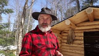 Log Cabin Bathhouse | Installing a Wood Stove | Maple Syrup | Off Grid Haircut
