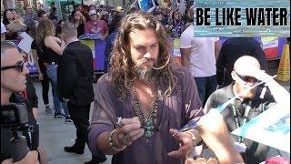 Aquaman star, Jason Momoa greets fans at Comic Con 2018