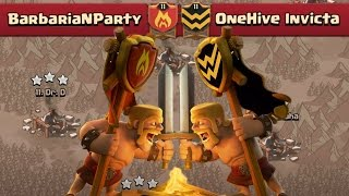 TAKING DOWN ONEHIVE   Clash of Clans   Epic Clan War VS OneHive Invicta