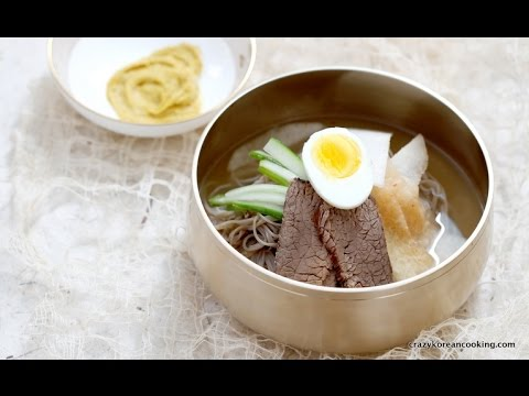 How to make Mul Naengmyeon from scratch, Korean cold noodles in soup