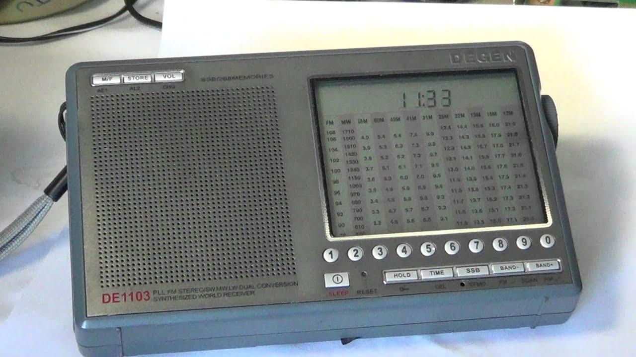 Degen DE 1103 radio review - YouTube