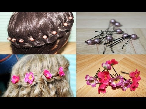 Easy DIY Flower and Beads Hair Accessories and Giveaway Winners ...