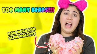 HOW MUCH CAN SLIME HOLD PART 6 | pallet beads, shower gel, hand soap | Slimeatory #198