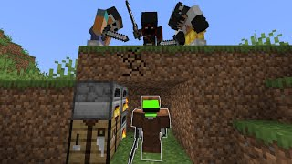 Minecraft Survivalist VS 3 Hitmen
