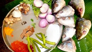 Cooking Big Fish Heads in My Village - Big Fish Head Curry - Food Cooking Videos