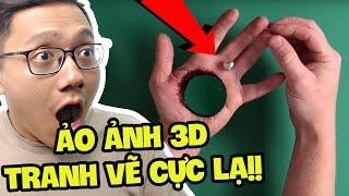 TRANH VẼ ẢO ẢNH 3D CỰC HAY VÀ BÍ MẬT ĐẰNG SAU!! (Sơn Đù Vlog Reaction)