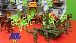 Plastic Army Men VS Alien Warriors Tim Mee Toy Father and Son Unboxing and Play