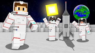 WE TOOK A MINECRAFT ROCKET TO THE MOON!
