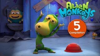 Funny Animated Cartoon - Alien Monkeys - Compilation - Cartoons For Children