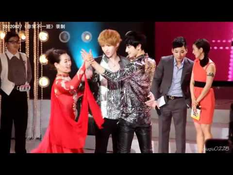 120627 Kris and Tao dancing at Extraordinary Class