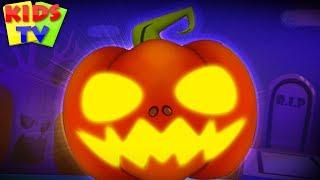 Scary Pumpkin | Little Eddie Cartoons | Halloween Songs for Children