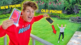 BREAKING My Mom's PHONE, Then SURPRISING Her with NEW iPHONE 12!