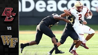 Boston College vs. Wake Forest Football Highlights (2018)