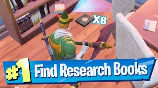 Collect research books from Holly Hedges and Pleasant Park Location - Fortnite