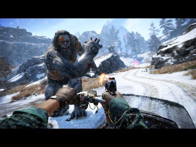 Las cinco formas más locas de acabar con los Yetis de Far Cry 4