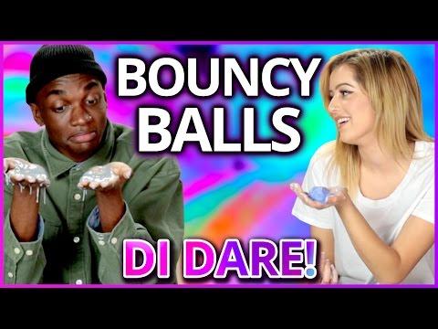 DIY Glow in the Dark Bouncy Ball?! | Di-Dare w/ Rickey Thompson & Lycia Faith