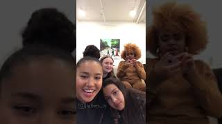 Sofia, Olivia, Dara and Julia insta live (January 31st)